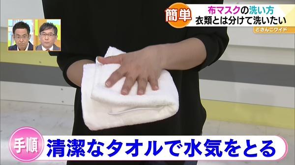 布 マスク 洗い 方